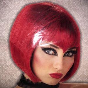 Short Red Va Va Vamp Wig